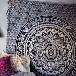 Black and Gray Tapestry